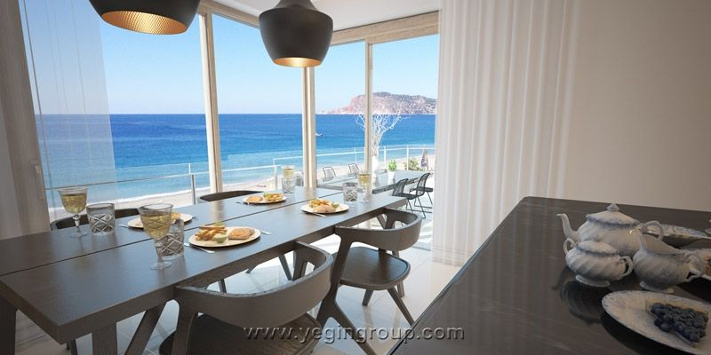 For sale sea front spacious luxury penthouses in alanya