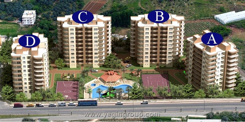 For sale luxury two bedroom apartment in Oba Tosmur Alanya