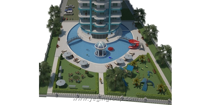For sale studio 1 bedroom apartments in Alanya