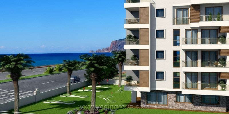 For sale sea front apartments in Alanya