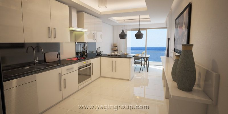 For sale sea front spacious apartments in Alanya