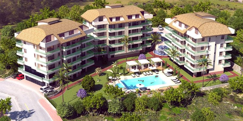 For sale Luxury Penthouses in Oba in alanya