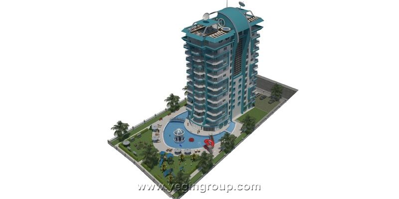 For sale luxury penthouses in Mahmutlar in Alanya